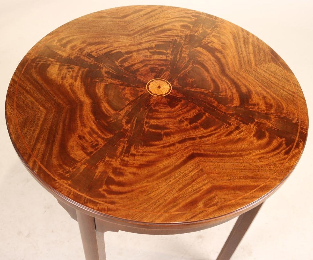 Federal Style Inlaid Round Occasional Table - 2