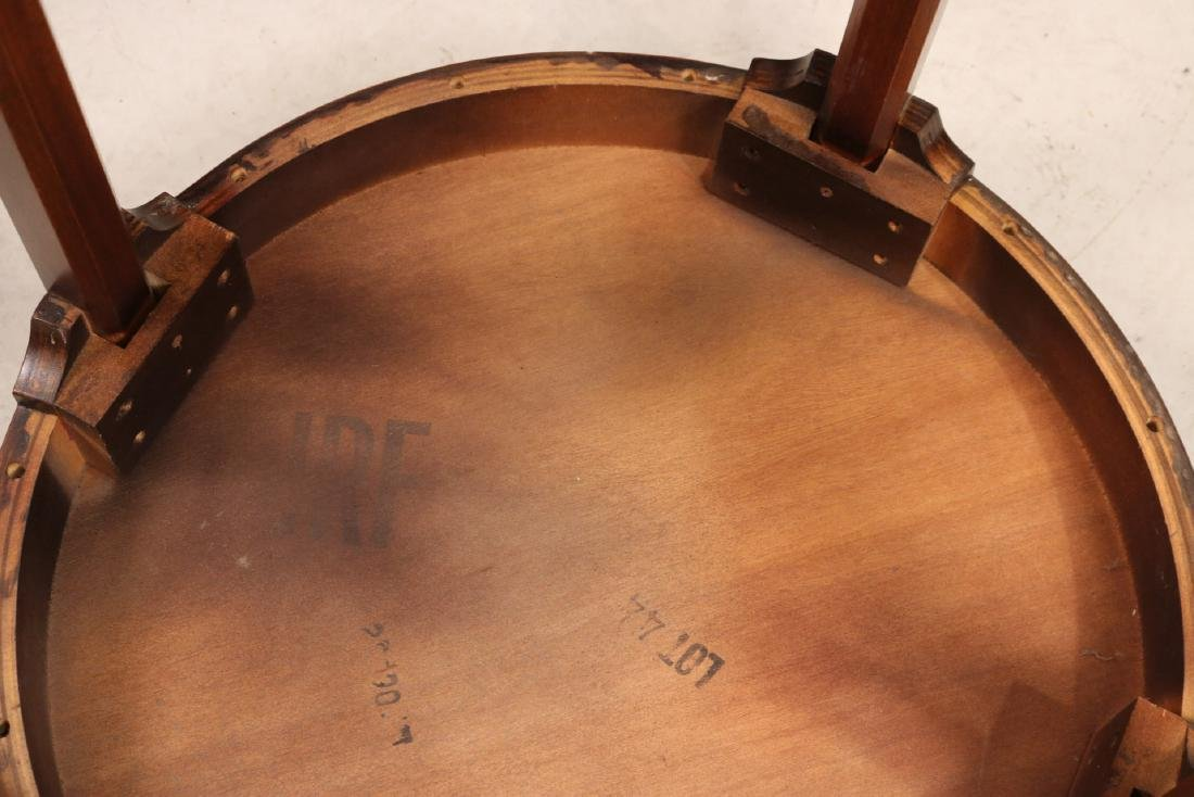 Federal Style Inlaid Round Occasional Table - 6
