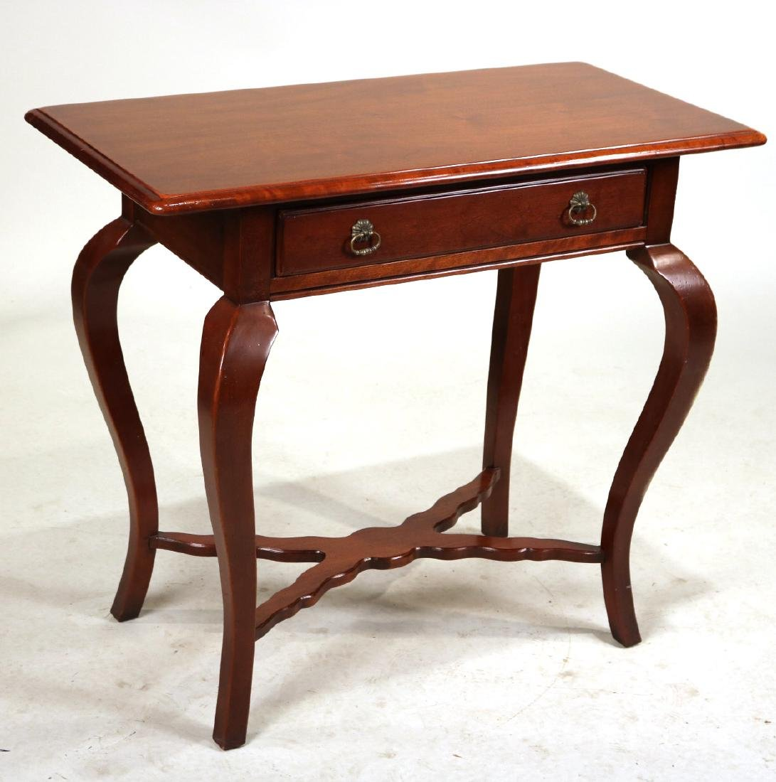 Hickory Chair Mahogany One Drawer Pier Table