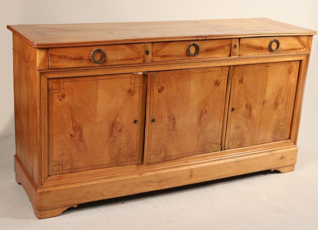 Beidermeier Inlaid Walnut Low Cabinet