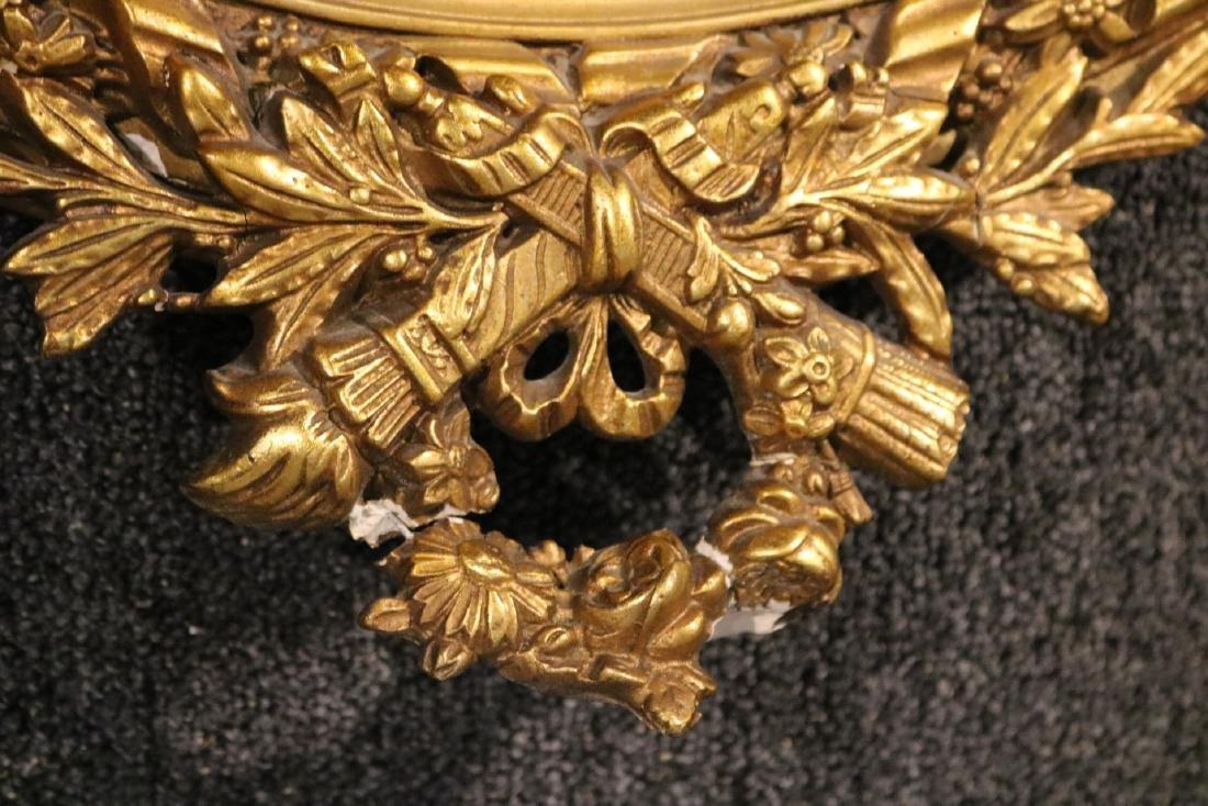 Louis XVI Style Giltwood Oval Mirror - 2