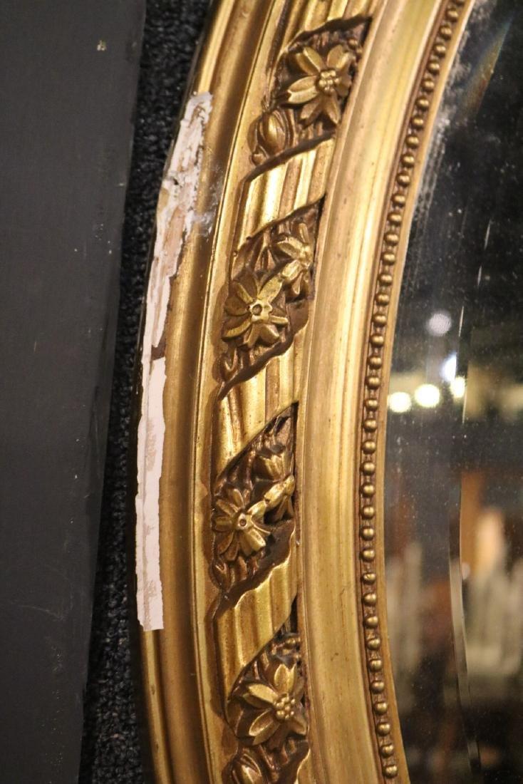 Louis XVI Style Giltwood Oval Mirror - 4