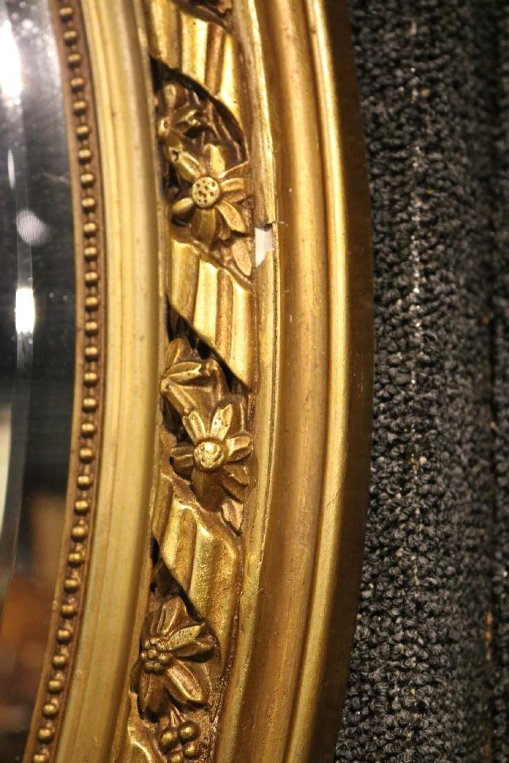 Louis XVI Style Giltwood Oval Mirror - 6