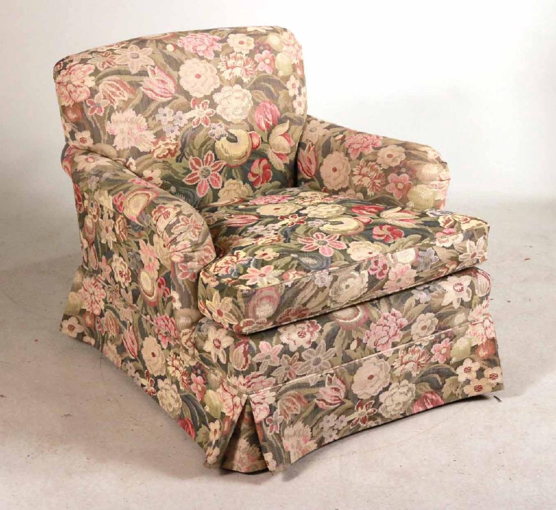 Pair of Floral-Upholstered Club Chairs - 2