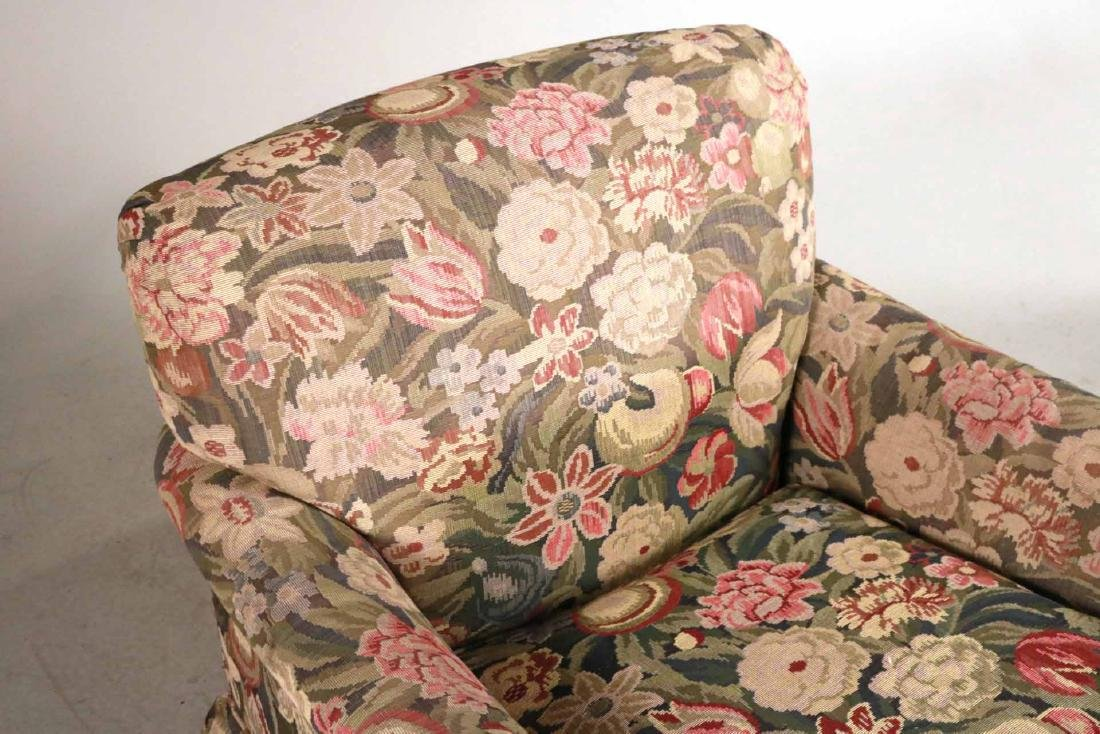 Pair of Floral-Upholstered Club Chairs - 4