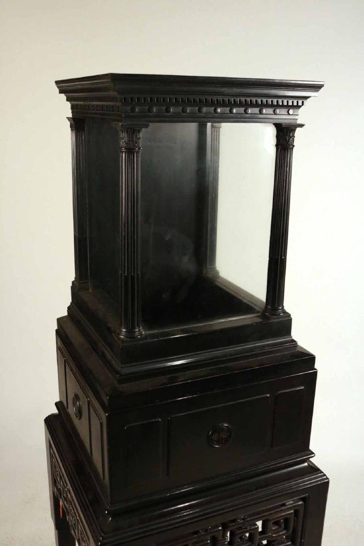 Chinese Ebonized Display Cabinet - 6