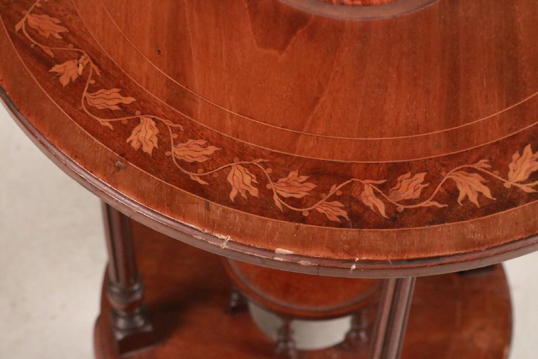 Regency Style Inlaid Mahogany Wash Stand - 6