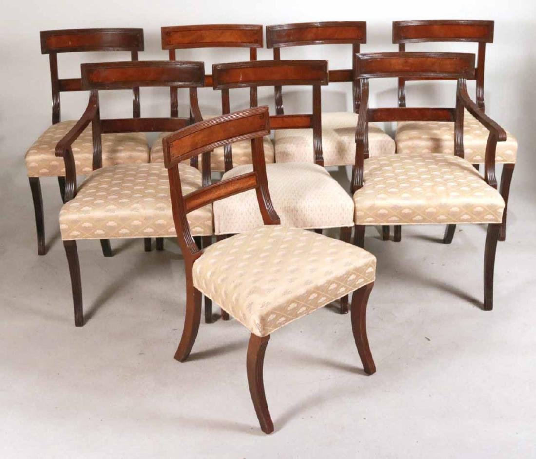 Eight Federal Style Mahogany Dining Chairs