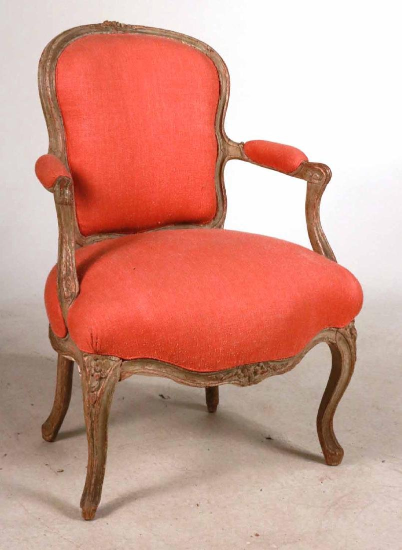 Louis XV Style White-Painted Fauteuil