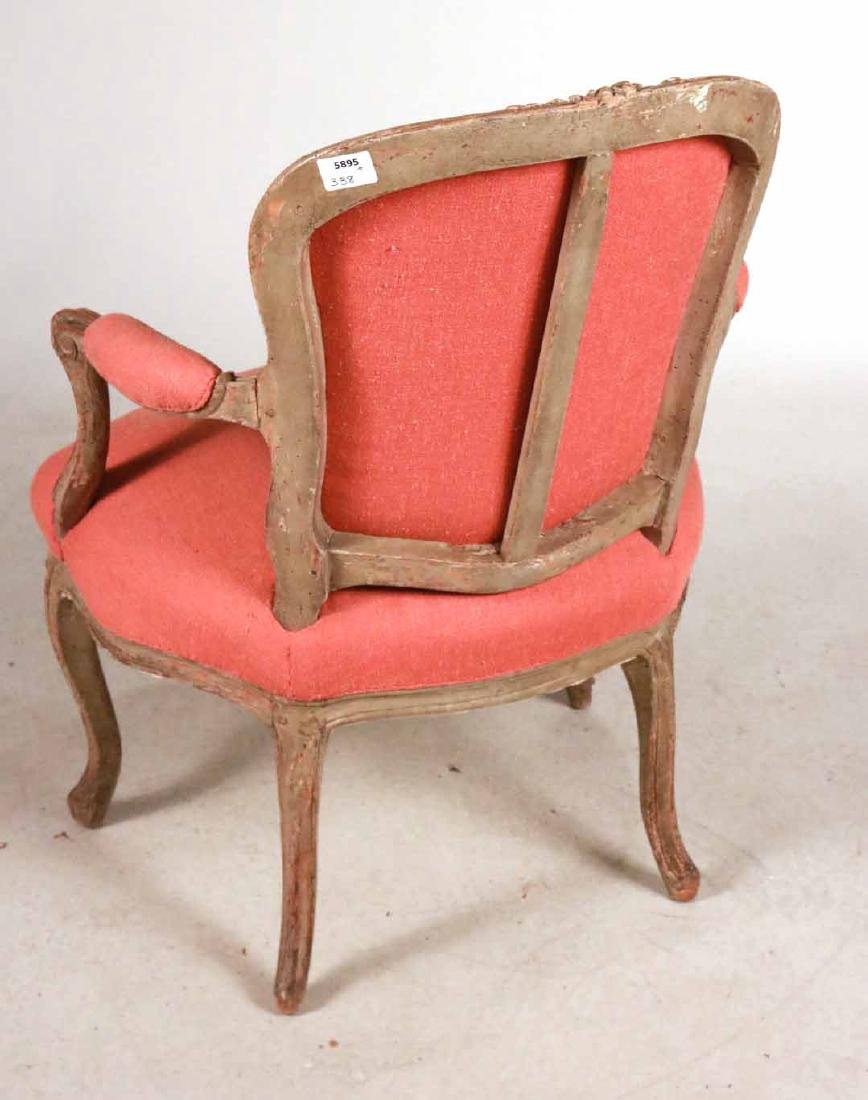 Louis XV Style White-Painted Fauteuil - 6