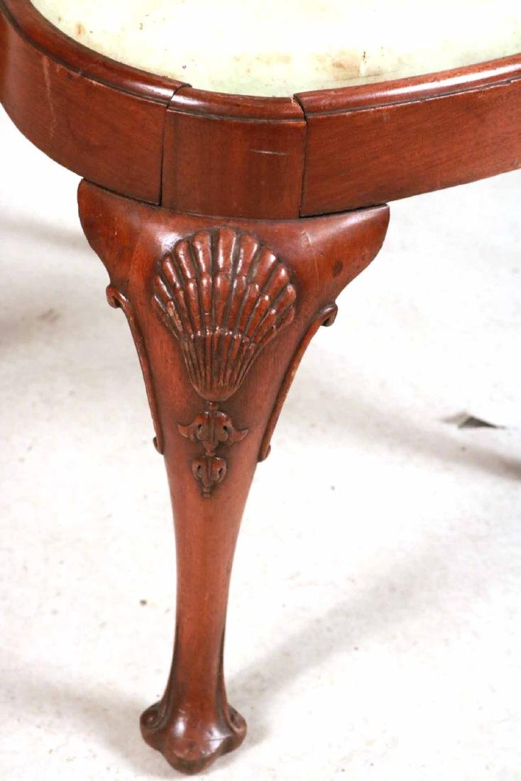 Six Queen Anne Style Walnut Dining Chairs - 5