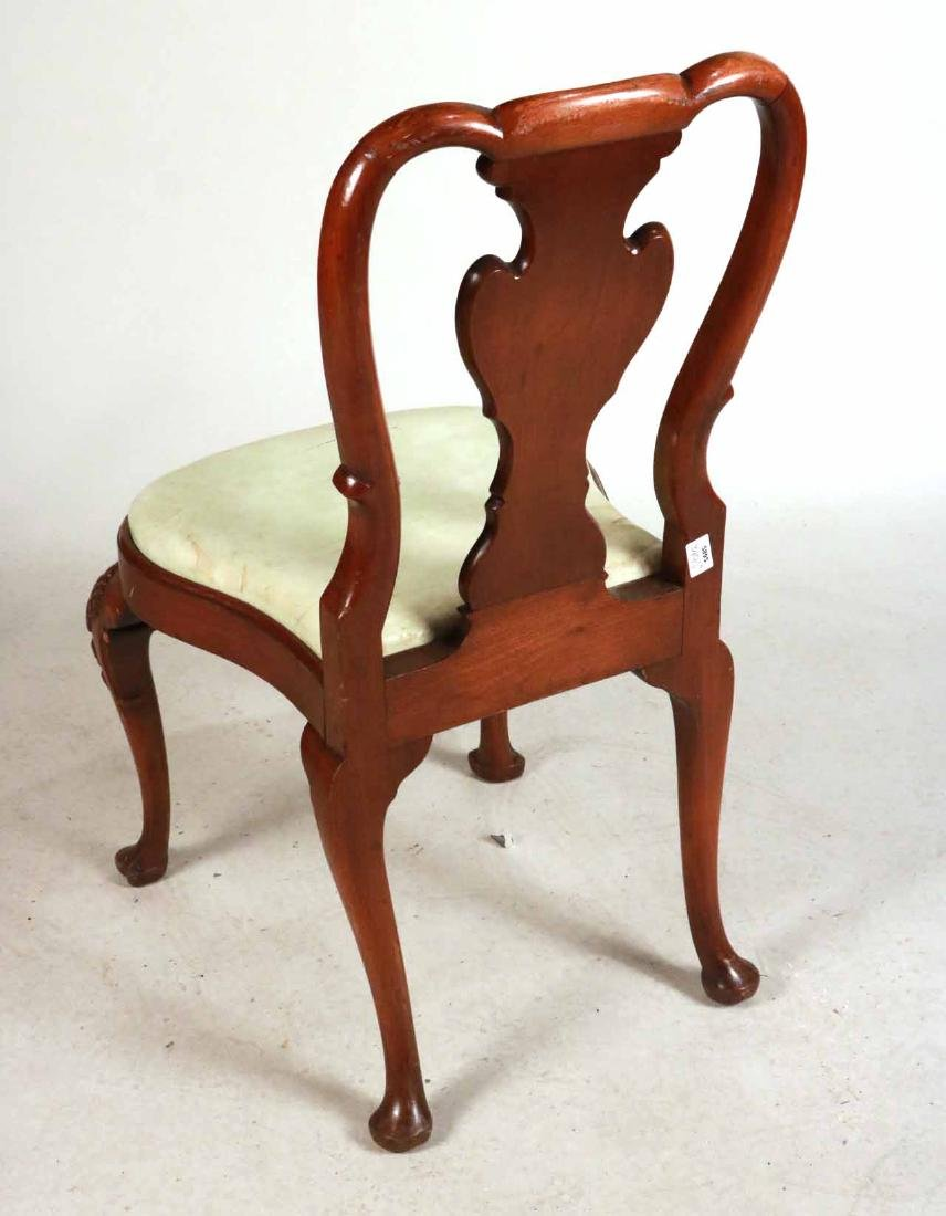 Six Queen Anne Style Walnut Dining Chairs - 8