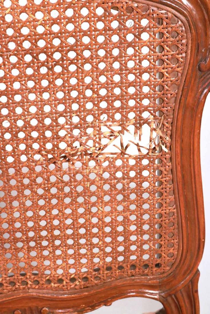 Six Louis XV Style Walnut Cane Seat Side Chairs - 2