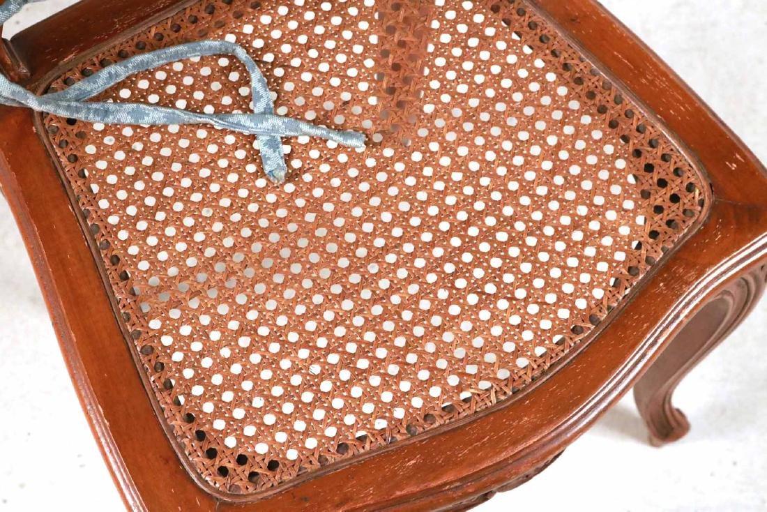 Six Louis XV Style Walnut Cane Seat Side Chairs - 6
