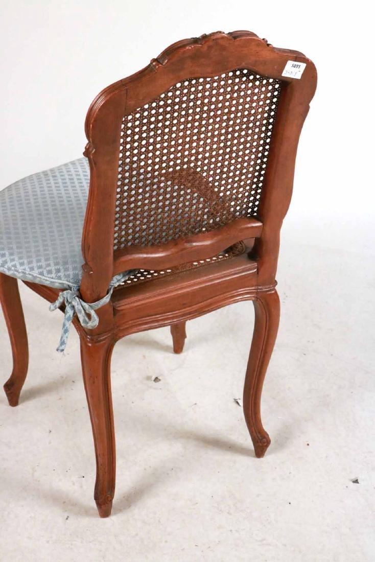 Six Louis XV Style Walnut Cane Seat Side Chairs - 8