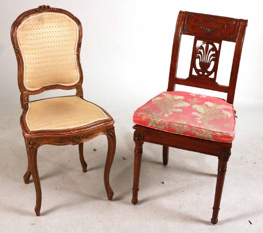 Louis XV Style Gold-Painted Side Chair