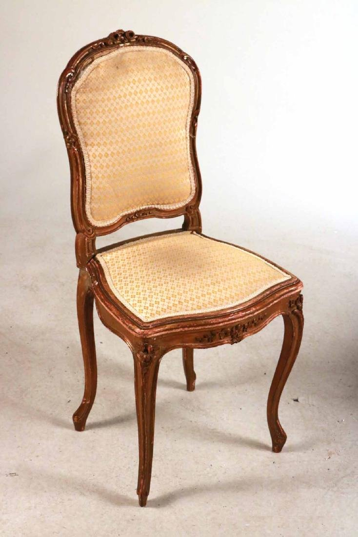 Louis XV Style Gold-Painted Side Chair - 2