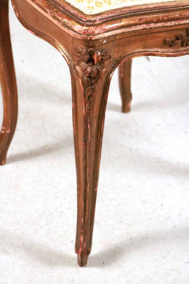 Louis XV Style Gold-Painted Side Chair - 3