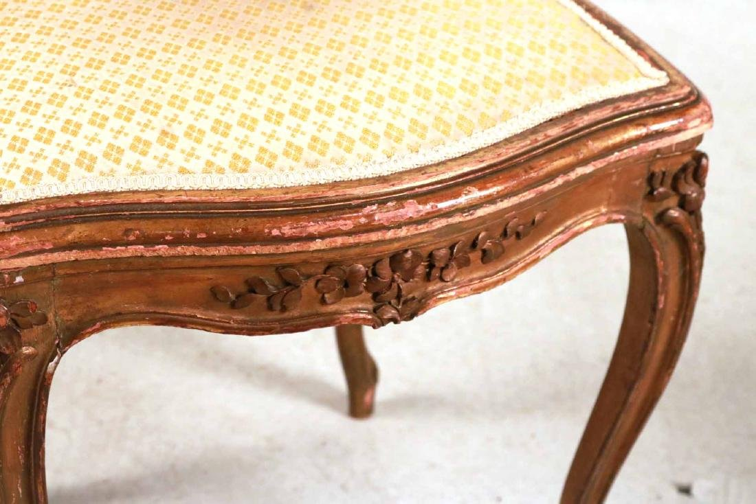 Louis XV Style Gold-Painted Side Chair - 4