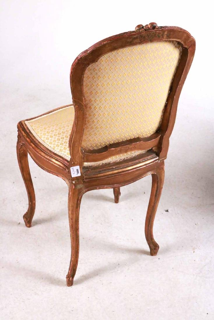 Louis XV Style Gold-Painted Side Chair - 6