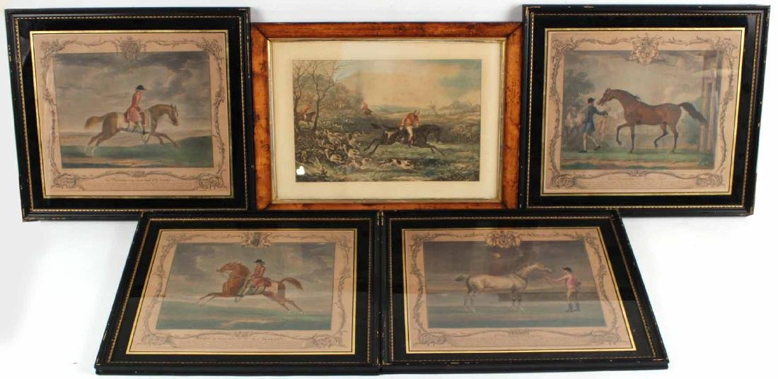 Five English Sporting Prints