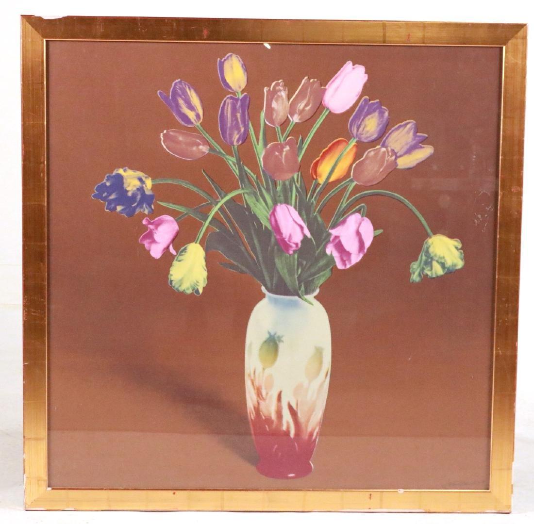 Silkscreen Print, Tulip Still Life