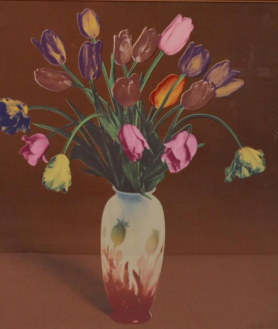 Silkscreen Print, Tulip Still Life - 2