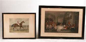 Hand Colored Sport Lithograph