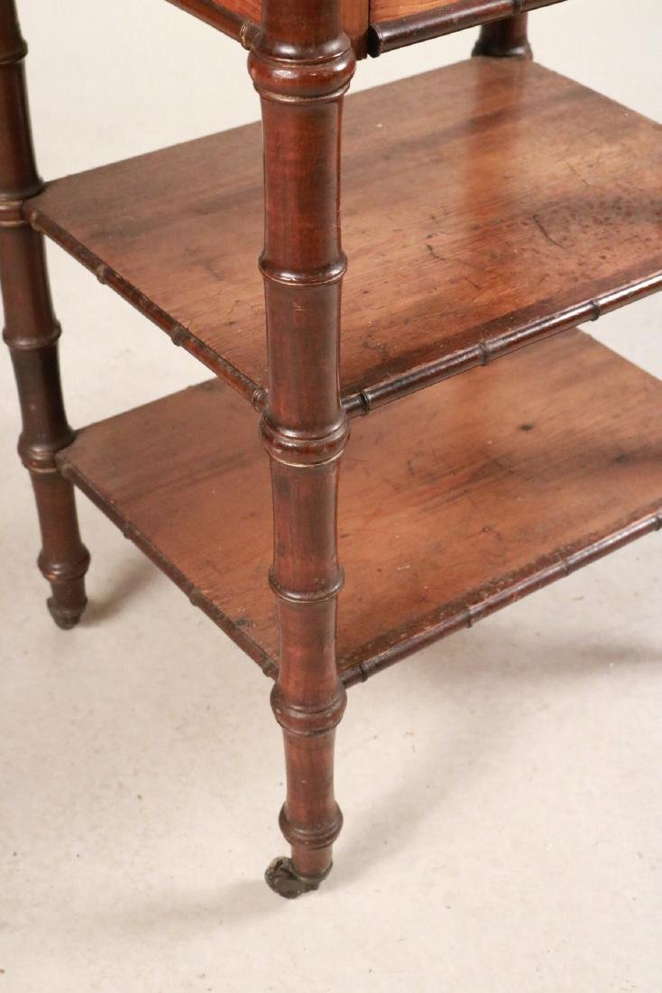 Victorian Marble Top Pine and Mahogany Nightstand - 5