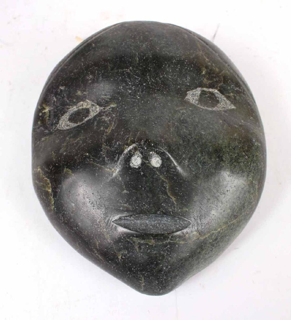 Inuit Carved Stone Face - 2