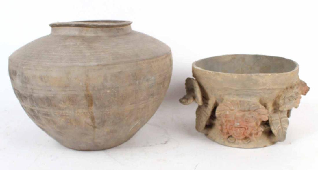 Two African Pottery Vessels