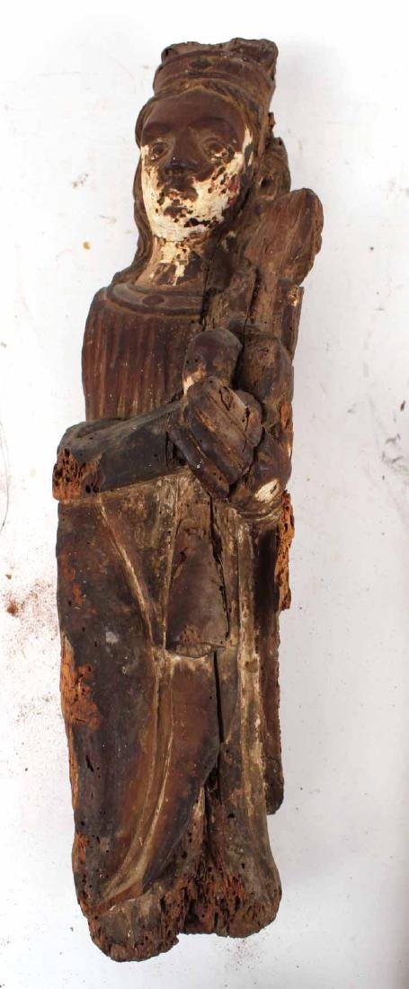 Santos Carved Wood Figure of Mary and Child