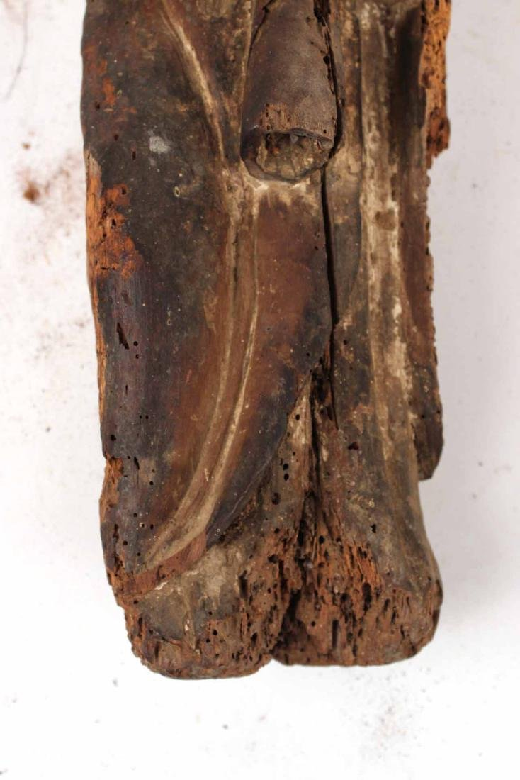 Santos Carved Wood Figure of Mary and Child - 4