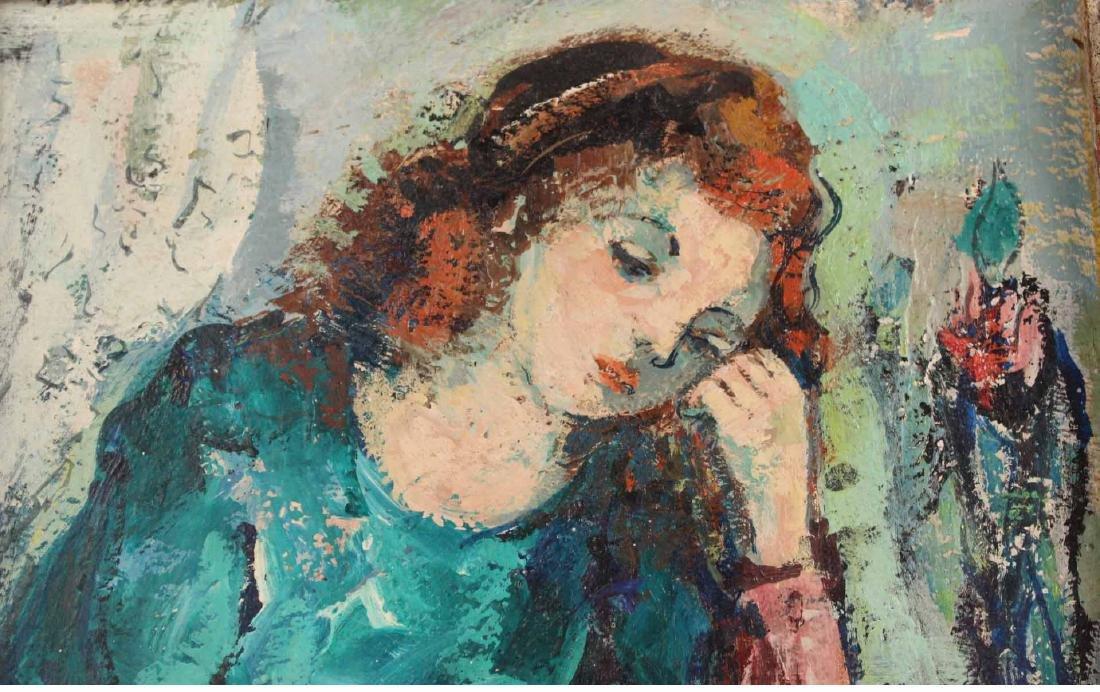 Oil on Board Portrait of a Girl, Zoltan Hecht - 4