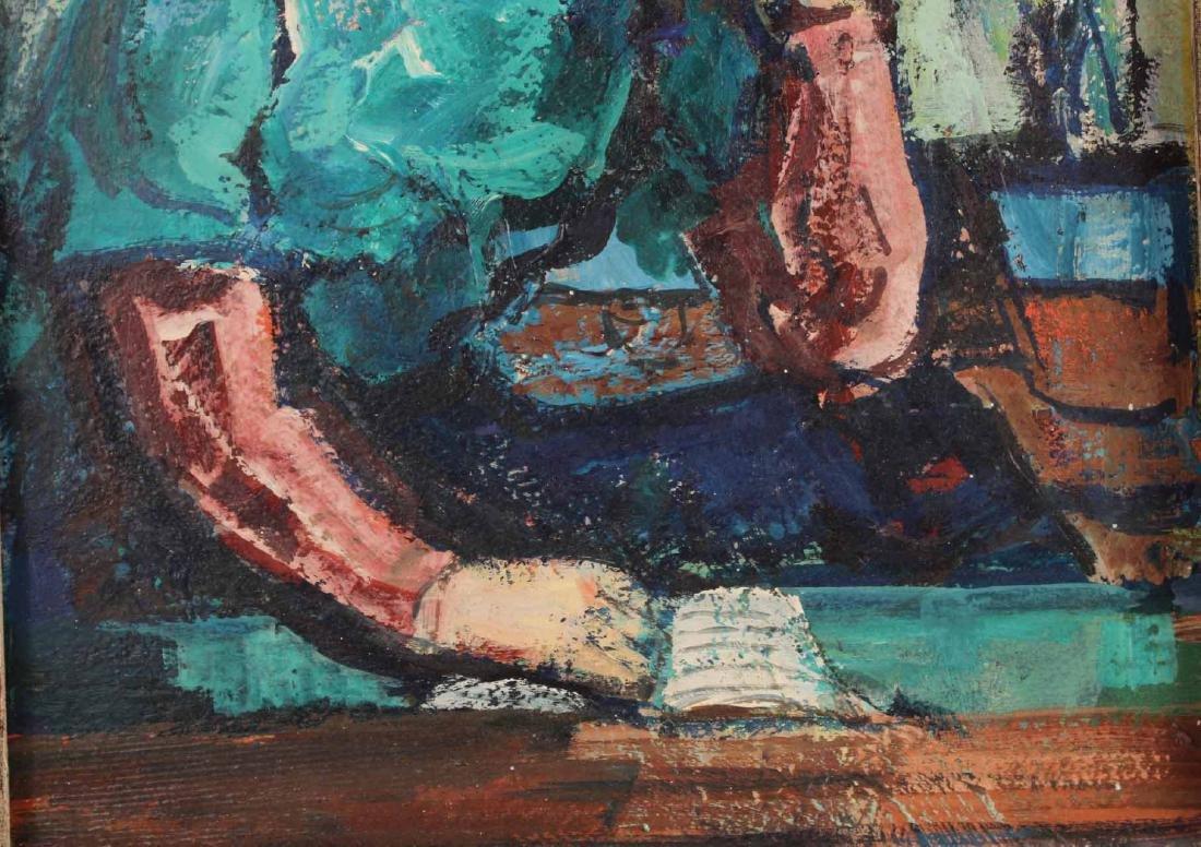 Oil on Board Portrait of a Girl, Zoltan Hecht - 5