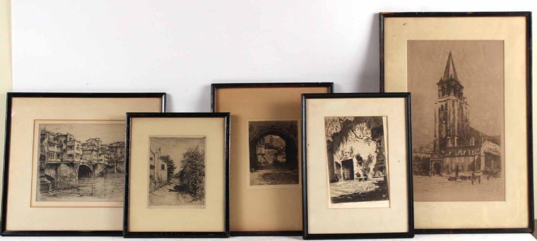 Five Landscape Etchings