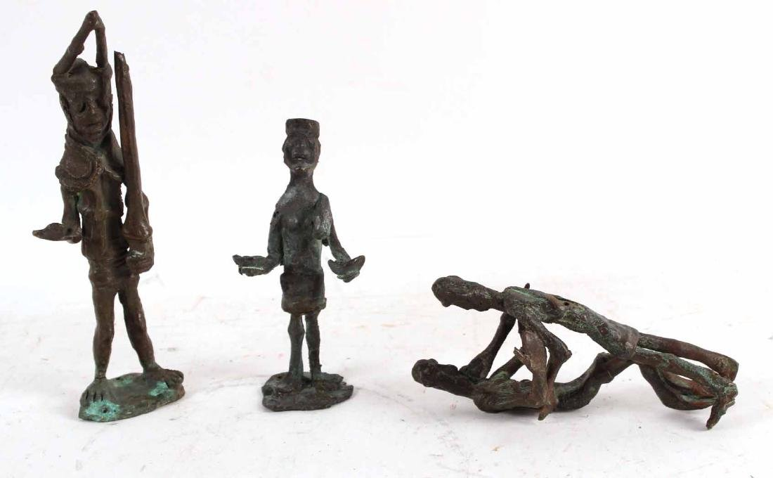 Three African Bronze Figures