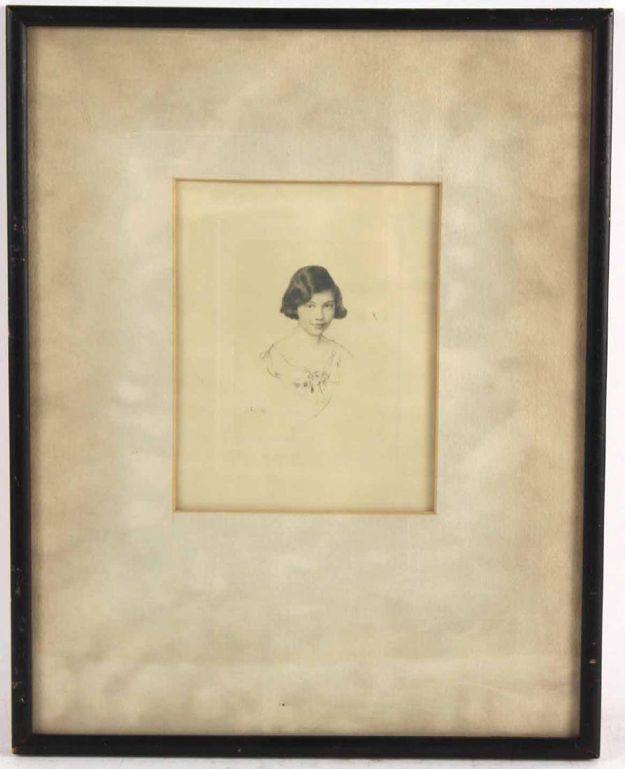 Engraving, Portrait of a Girl, Leon Kroll