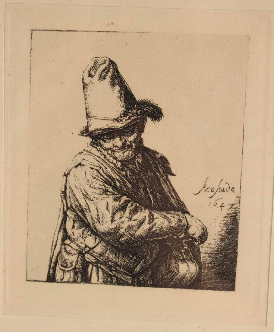 Engraving, Portrait of an Old Man - 2
