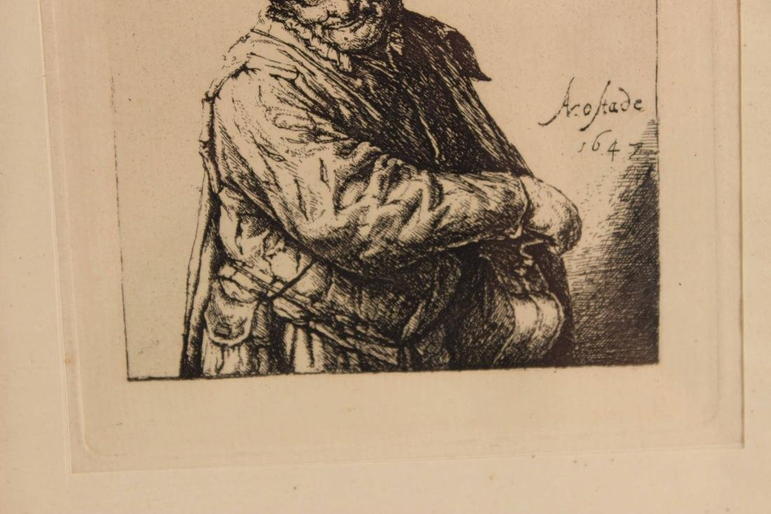 Engraving, Portrait of an Old Man - 5