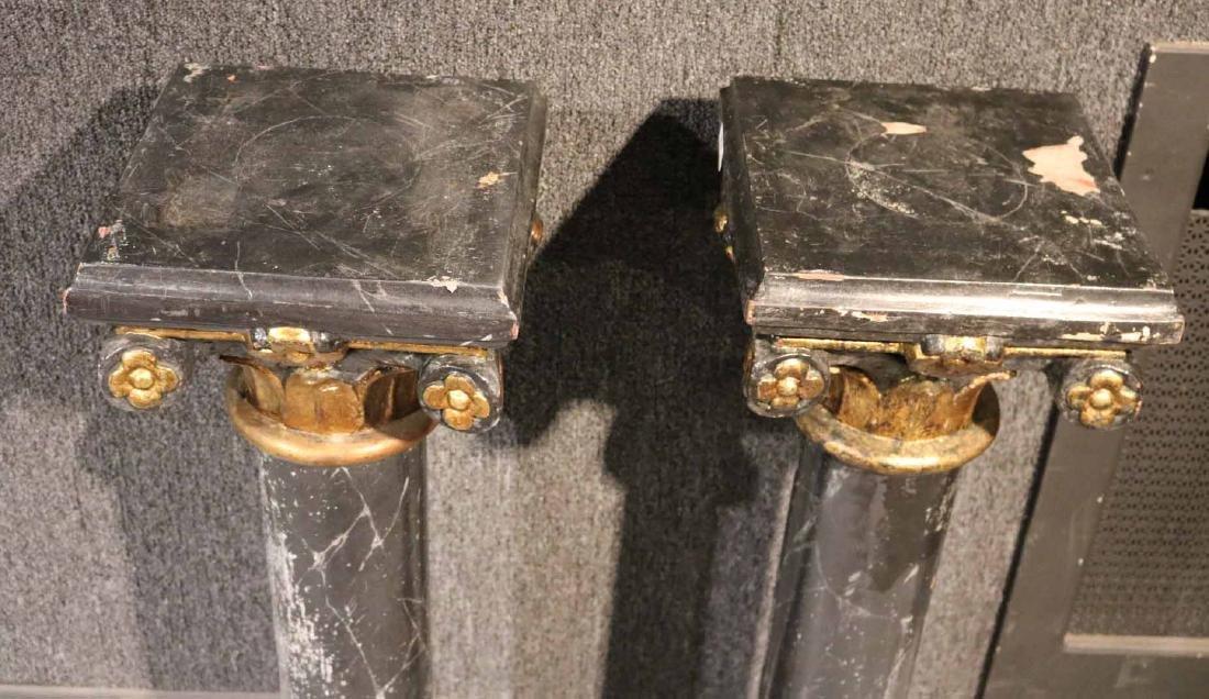 Two Faux-Marble Cast-Iron Pedestals - 5