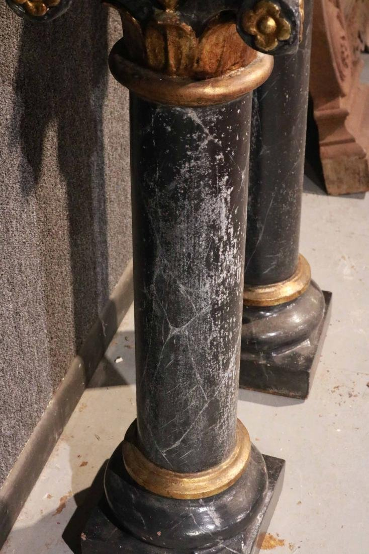 Two Faux-Marble Cast-Iron Pedestals - 7