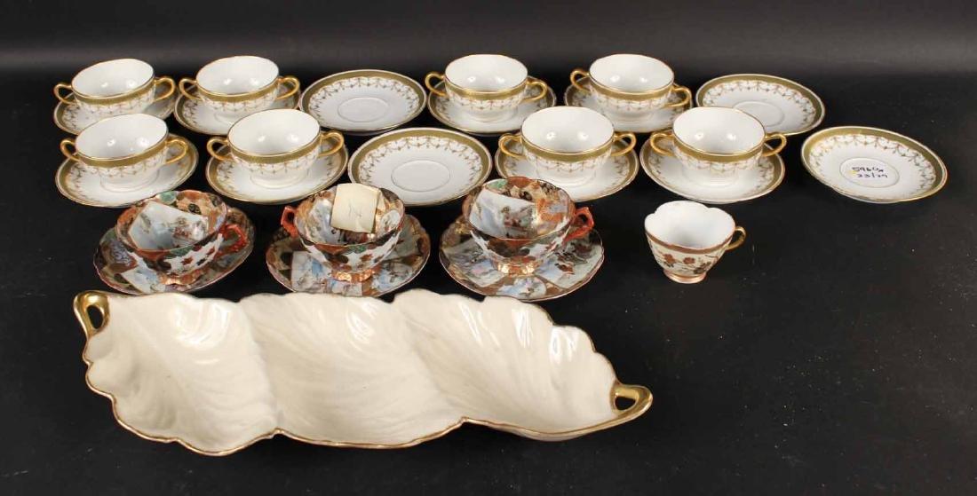 Ten Theo Haviland Limoges Cups & Twelve Saucers