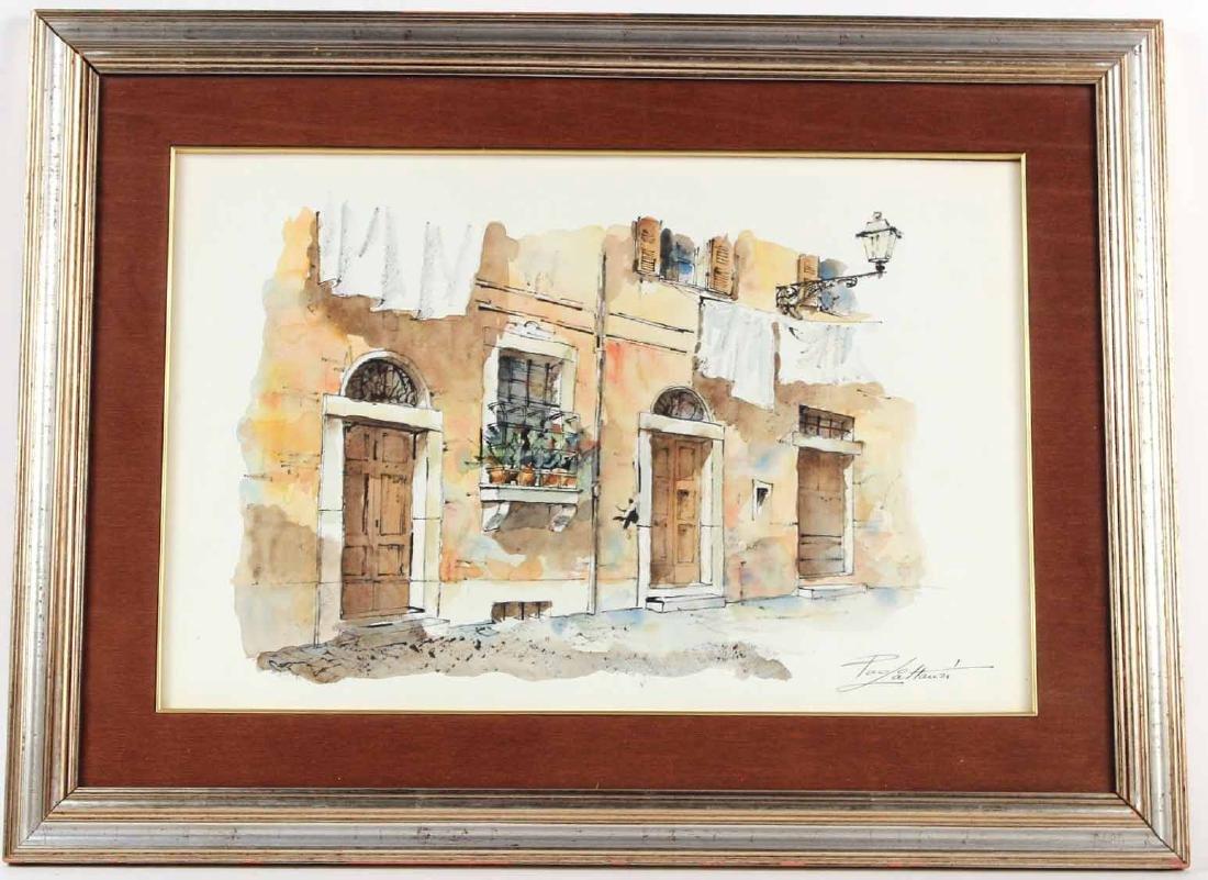 Watercolor, Rome Street, Paolo Lattanzi