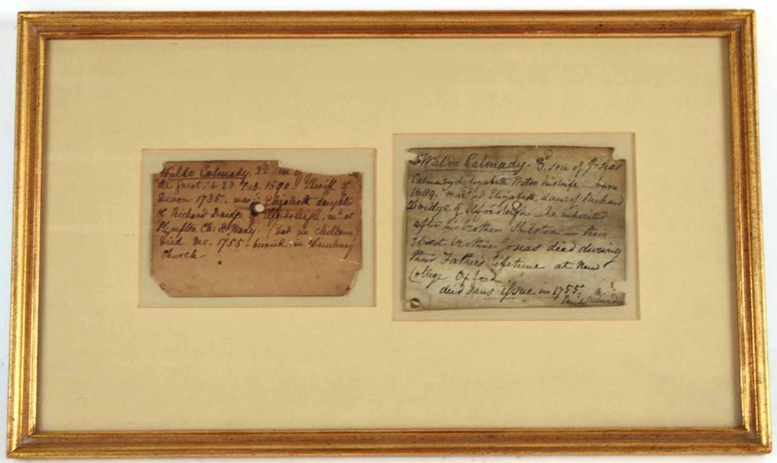 Two Genealogy, Vincent Waldo Calmady