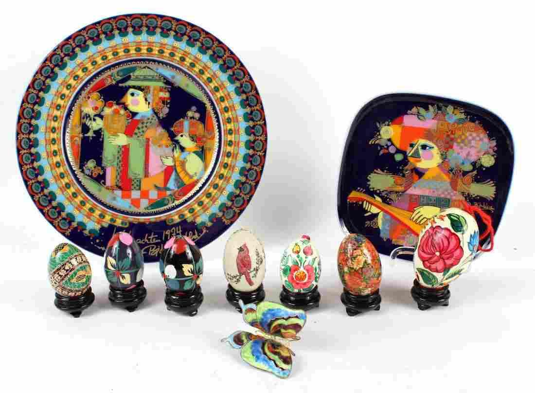 Two Rosenthal Studio Porcelain Decorative Plates
