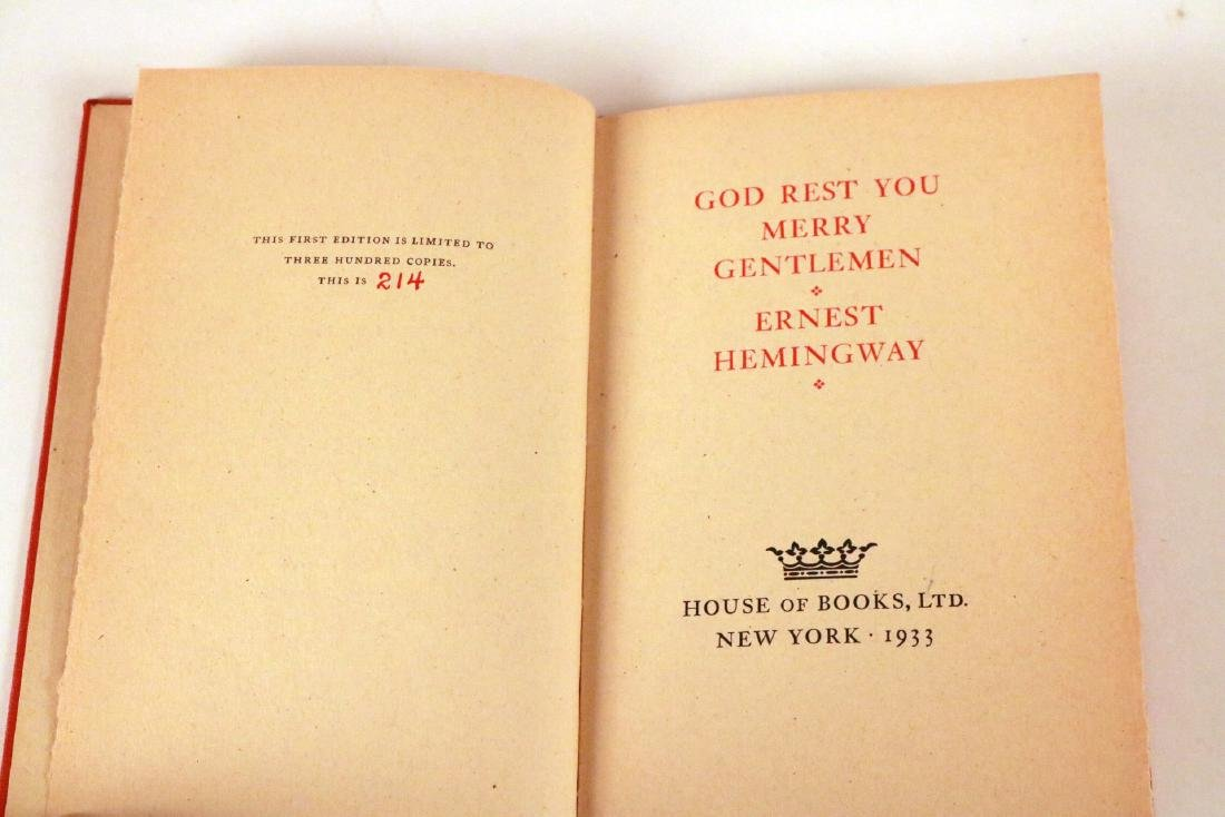 """God Rest You Merry Gentlemen"" Ernest Hemingway - 3"