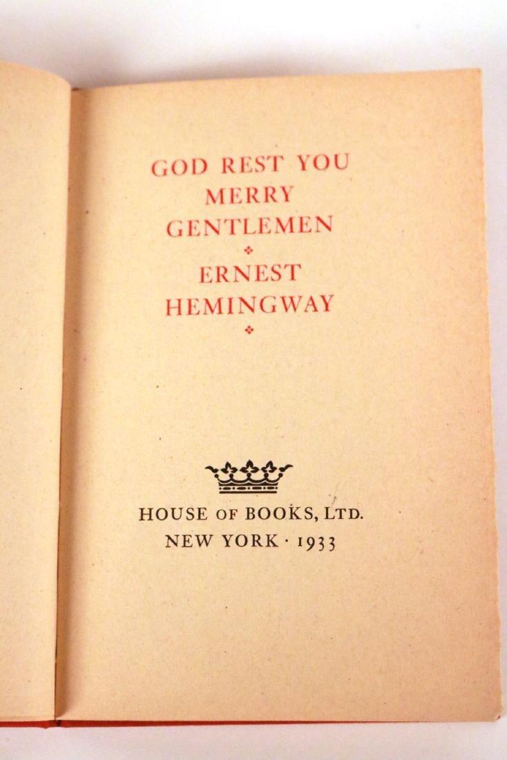 """God Rest You Merry Gentlemen"" Ernest Hemingway - 5"