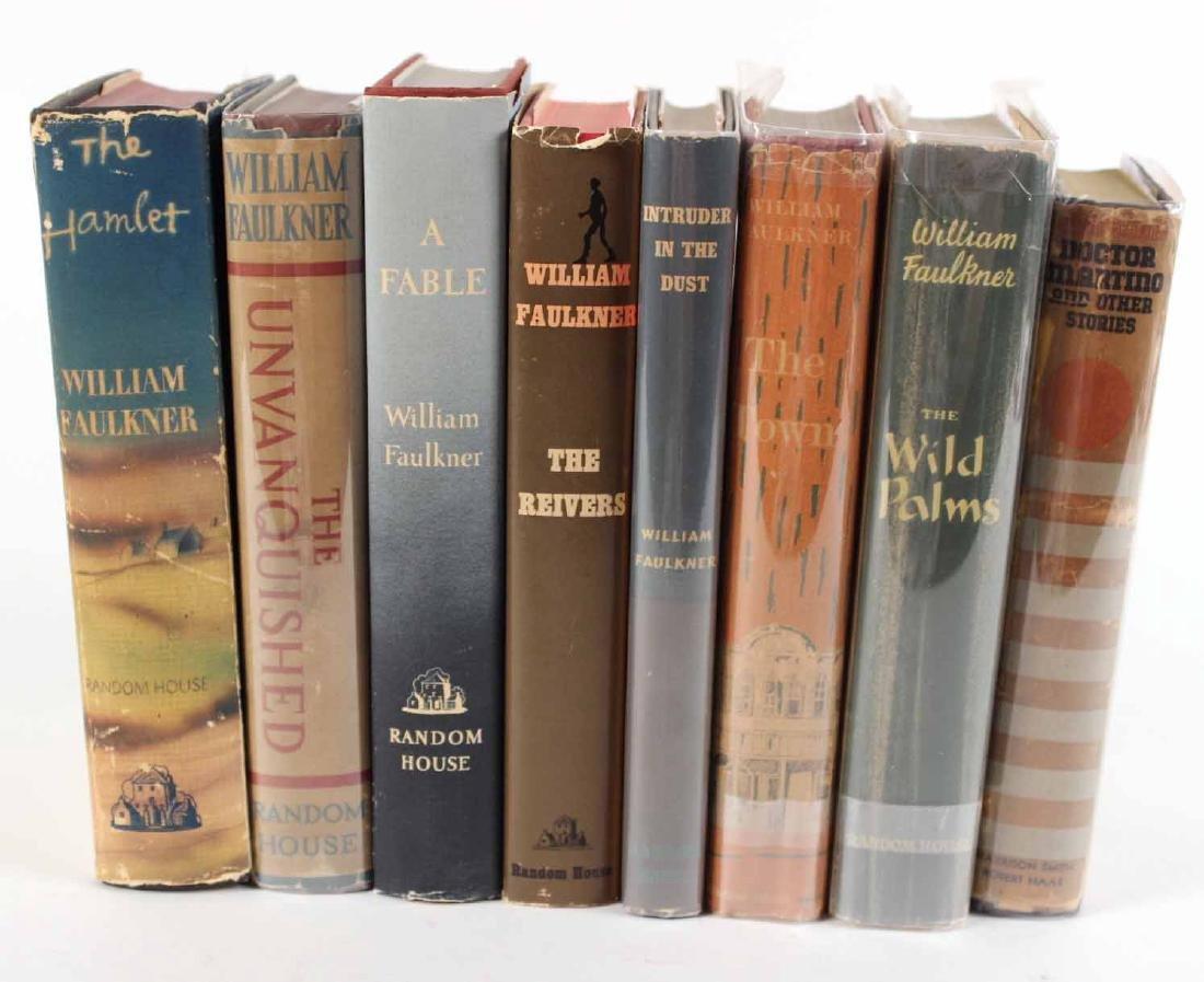 Eight Books by William Faulkner