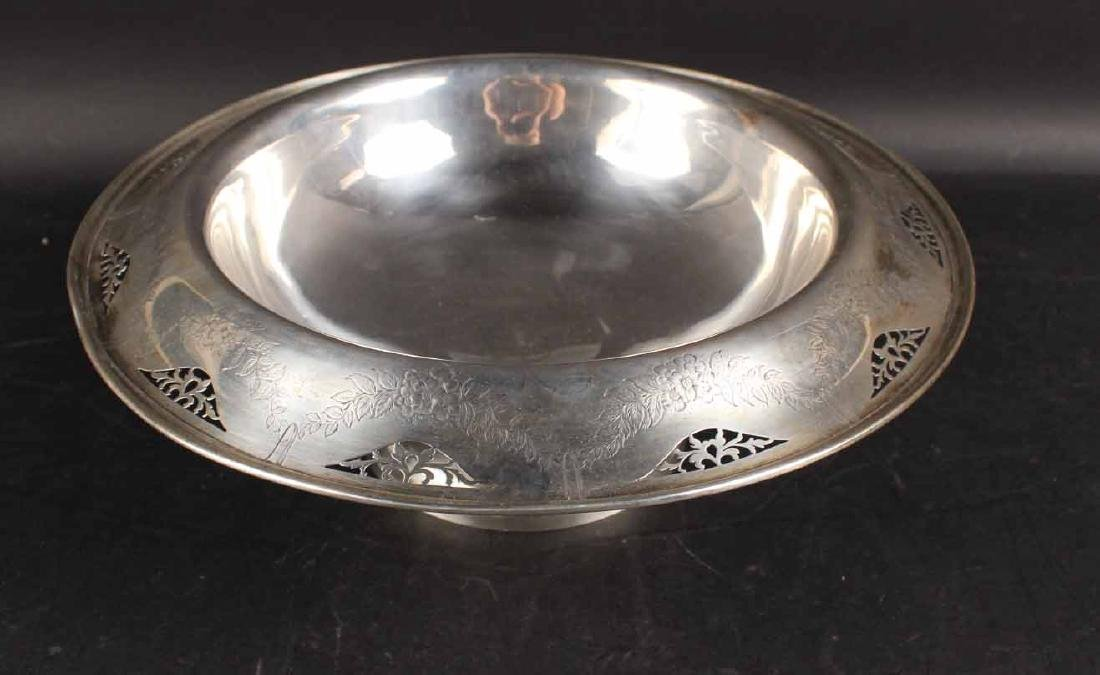 American Sterling Silver Footed Bowl - 2